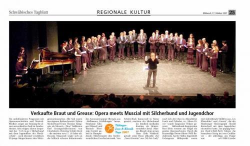"Schwäbisches Tagblatt 2007 - ""Opera meets Musical"""